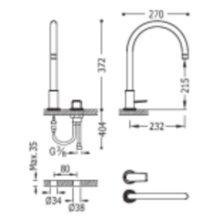 Robinet de lavabo mitigeur en batterie PROJECT-TRES
