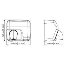 Sèche-mains noir automatique Saniflow Mediclinics