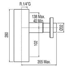 Siphon de lavabo carré décoratif TRES