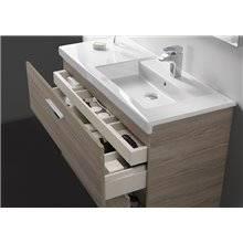 Pack meuble 80 cm deux tiroirs blanc-frêne Prisma Roca