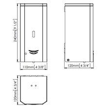 Distributeur de savon 1L automatique satiné...