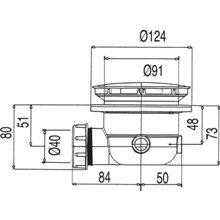 Bonde de vidage avec siphon pour receveur de douche Ø120 TRES