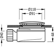 Bonde de vidage avec siphon pour receveur de douche Ø118 TRES