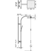 Colonne de douche thermostatique en acier PROJECT-TRES