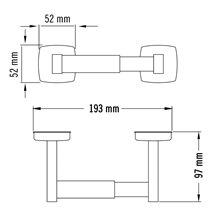 Dérouleur de papier WC gris horizontal Medisteel Mediclinics