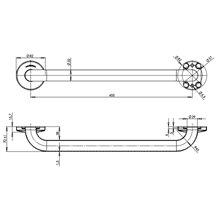 Barre d'appui droite 53 cm satinée Medinox...