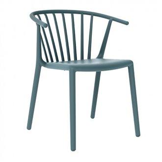 Lot de 2 chaises bleu rétro avec accoudoirs WOODY Resol