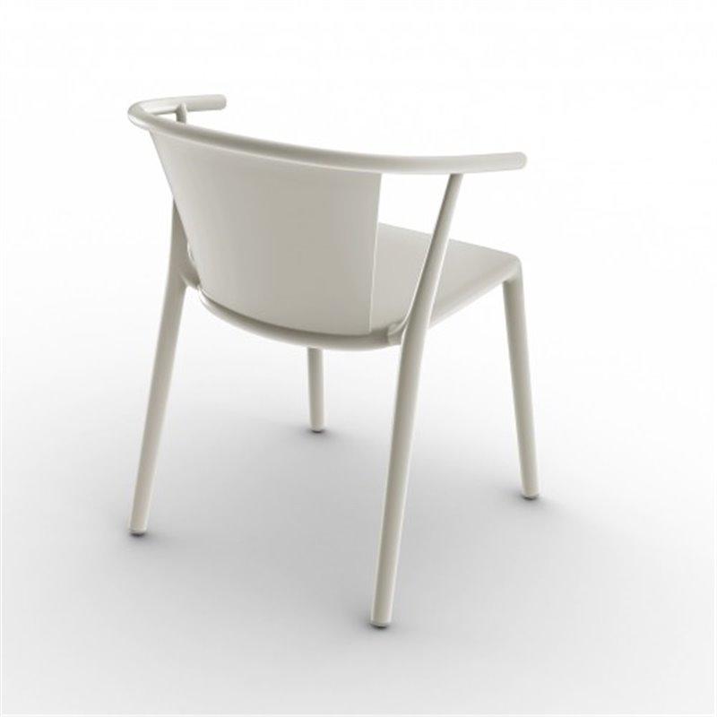 Lot de 2 chaises ivoire avec accoudoirs Steely Resol