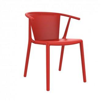 Lot de 2 chaises rouges avec accoudoirs Steely Resol