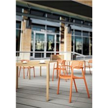 Lot de 2 chaises orange Tolède Aire Resol