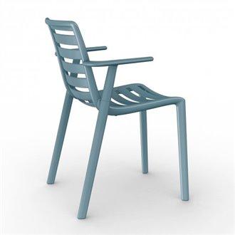 Lot de 2 chaises bleu rétro avec accoudoirs Slatkat Resol