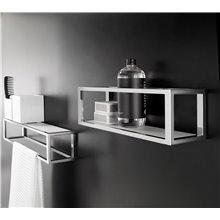 Porte-serviettes avec étagère chromée XL the grid COSMIC