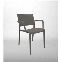Lot de 2 chaises gris foncé avec accoudoirs...
