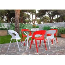Lot de 2 chaises rouges Carla Resol