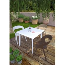 Lot de 2 chaises sable empilables Carla Resol