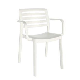 Lot de 4 chaises blanches avec accoudoirs WIND Resol