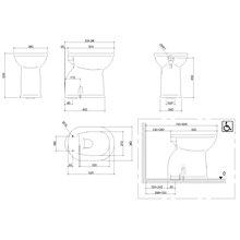 WC haut 50cm mobilité réduite Mediclinics