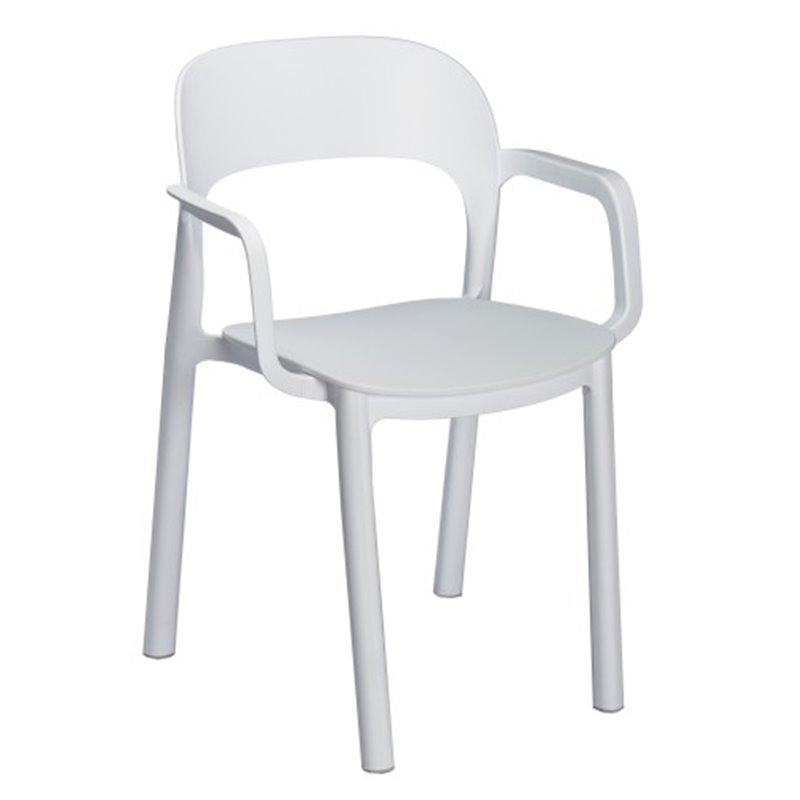 Lot de 4 chaises blanches avec accoudoirs ONA de Resol