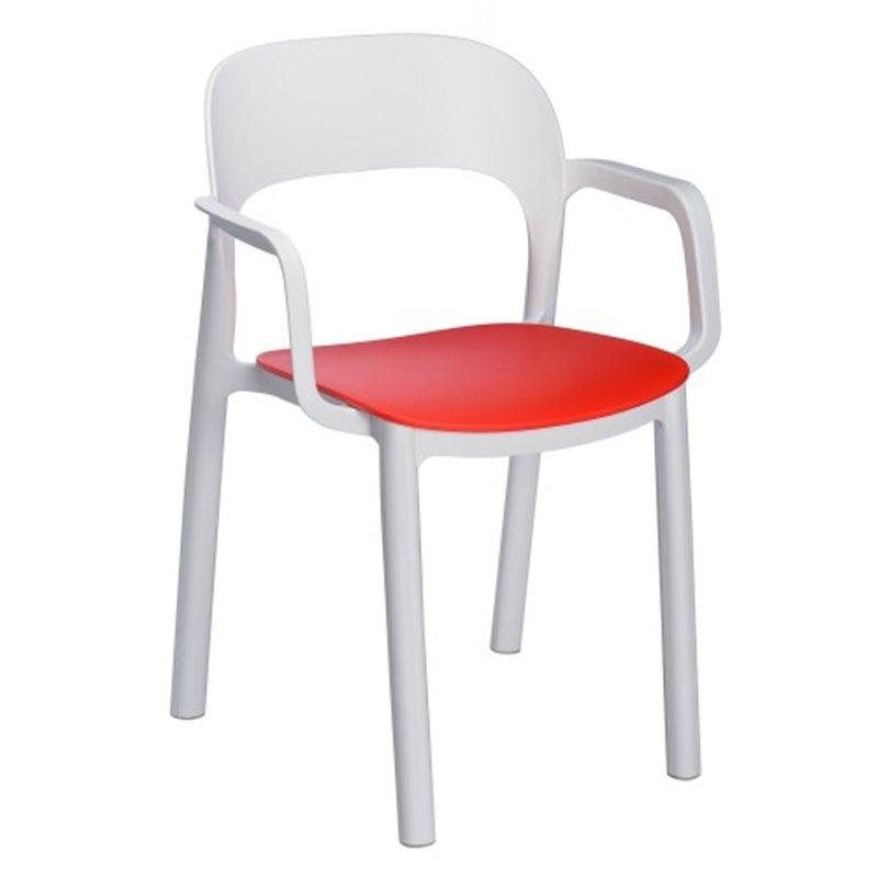 Lot de 4 chaises empilables avec accoudoirs ONA de Resol