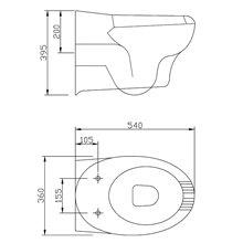 WC suspendu avec ouverture Mediclinics