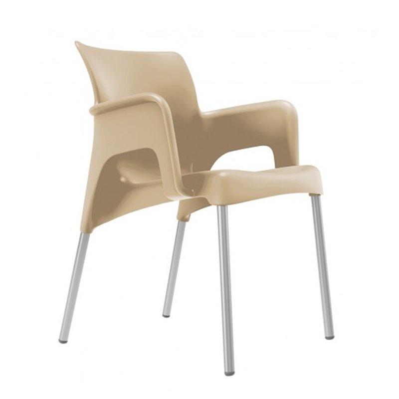 Lot de 2 chaises sable Sun Resol