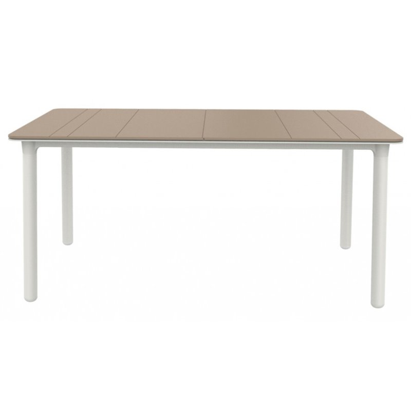 Grande table sable et blanche Noa de Resol