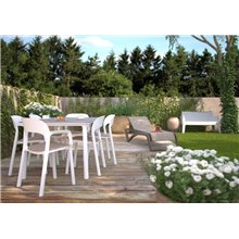 Grande table grise et blanche Noa de Resol