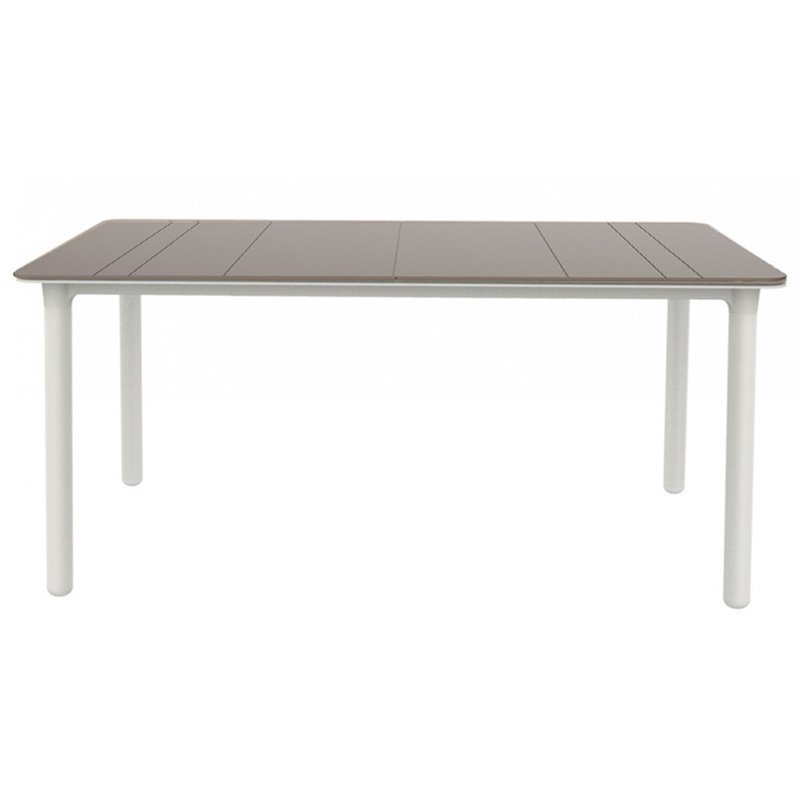 Grande table chocolat et blanc Noa de Resol
