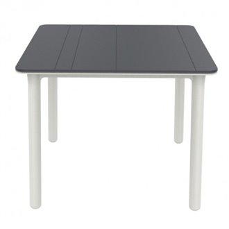 Table carrée grise et blanche Noa de Resol