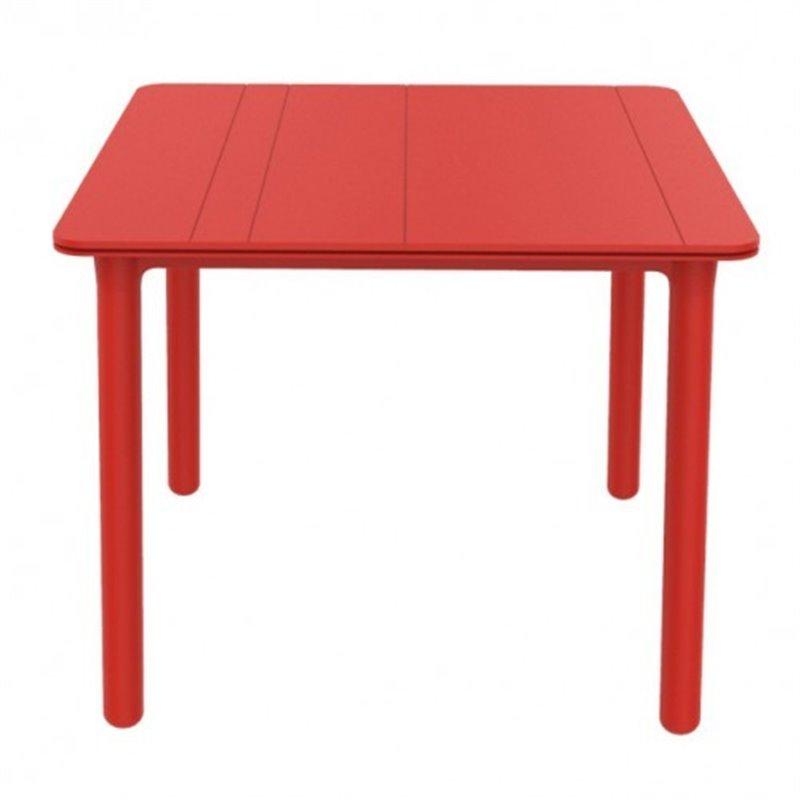 Table carrée rouge Noa de Resol