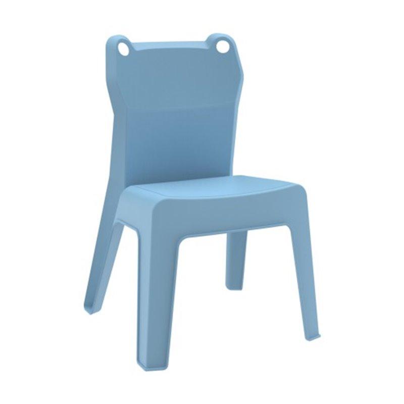 Lot de 4 chaises enfant bleu ciel Jan Frog Resol