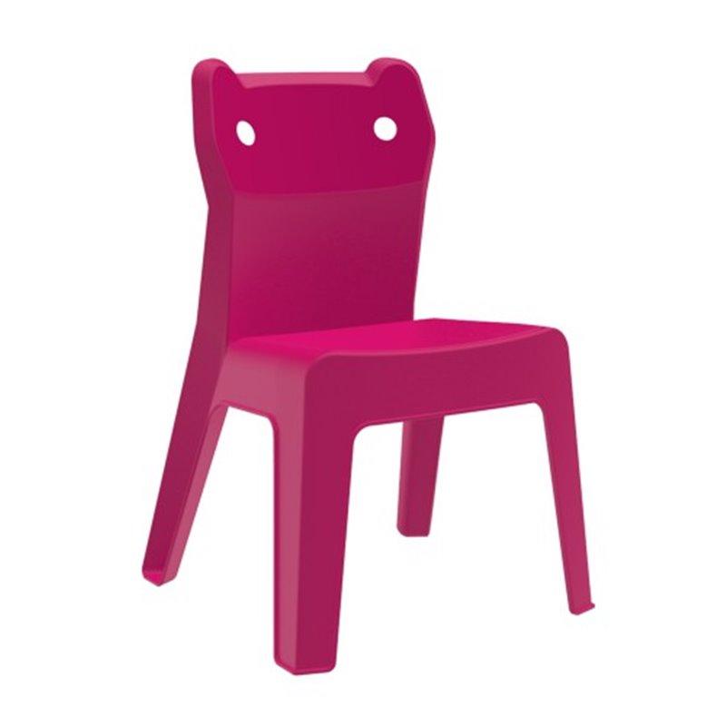 Lot de 4 chaises enfant fuchsia Jan Cat Resol