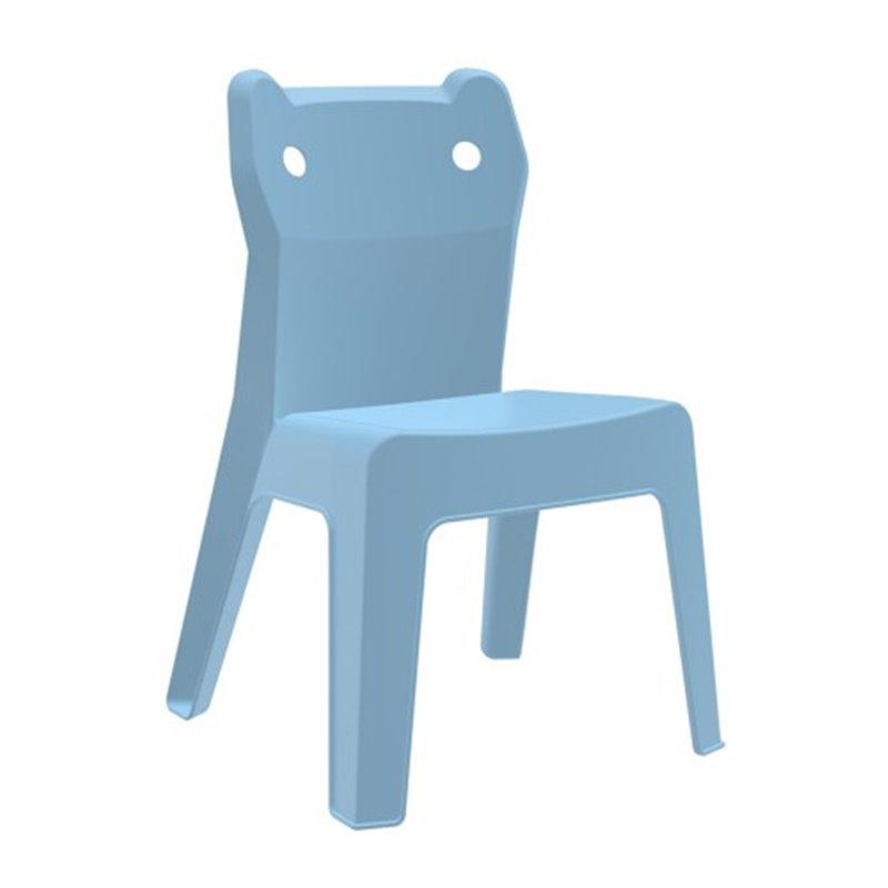 Lot de 4 chaises enfant bleu ciel Jan Cat Resol