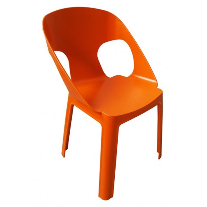 Lot de 4 chaises enfant orange Rita Resol