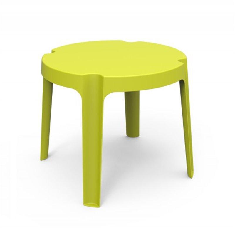Lot de 4 tables enfant vert citron Rita Resol