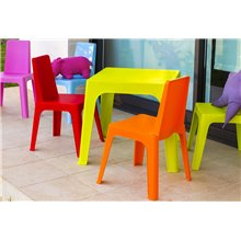 Lot de 4 chaises enfant vert citron Juliette Resol