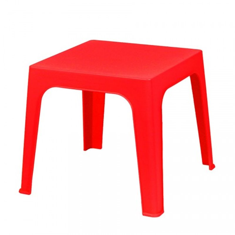 Lot de 4 tables enfant rouges Juliette Resol