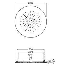 Pomme haute 30x30cm ronde Raindream Roca