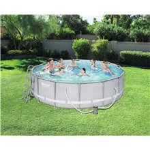 Piscine ronde 427x107cm POWER STEEL Bestway