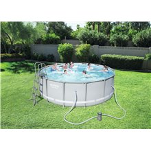 Piscine ronde 427x122cm POWER STEEL Bestway
