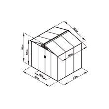 Abri de jardin en métal 3,64m² Manchester Gardiun