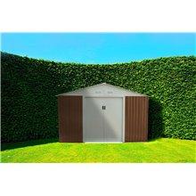 Abri de jardin en métal 7,74m² Bristol marron...