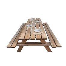 Table de pique-nique en bois 200x148x70cm Gardiun