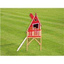 Maisonnette pour enfants 2,28m² Gulliver rouge...