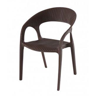 Lot de 5 chaises marron avec accoudoirs Bird Resol