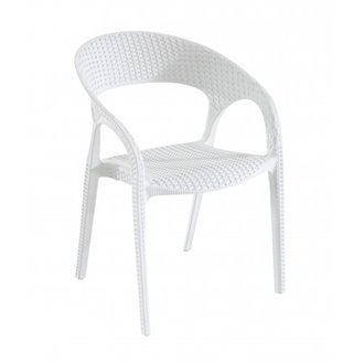 Lot de 5 chaises blanches avec accoudoirs Bird Resol