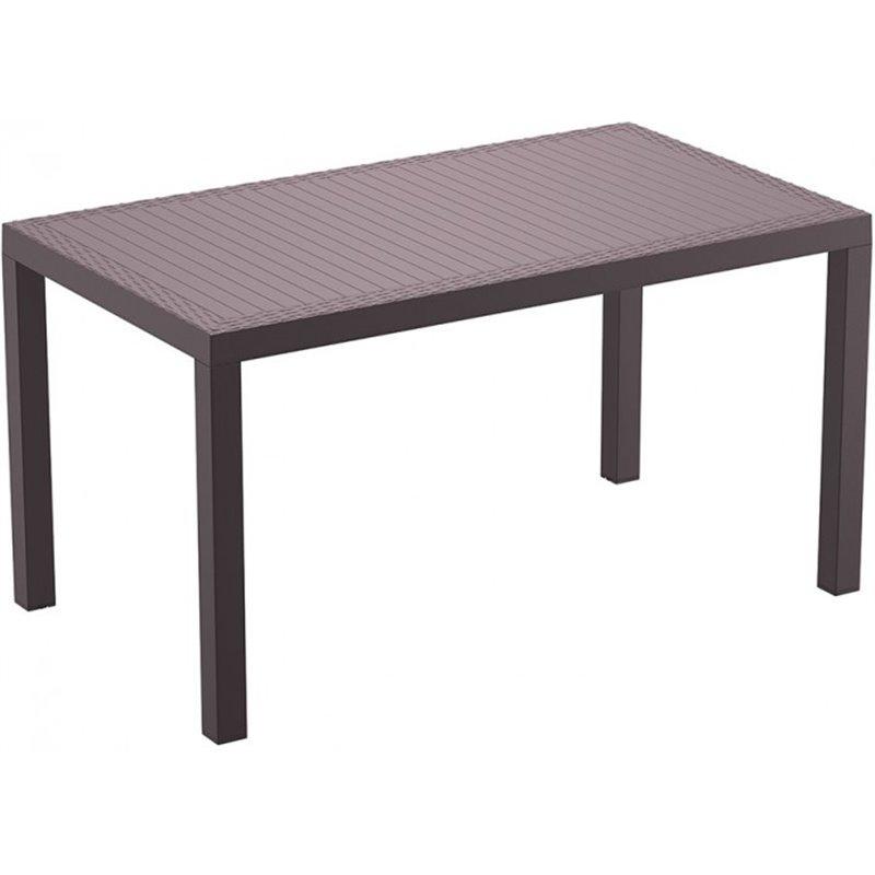 Table chocolat 140 cm Indian Resol