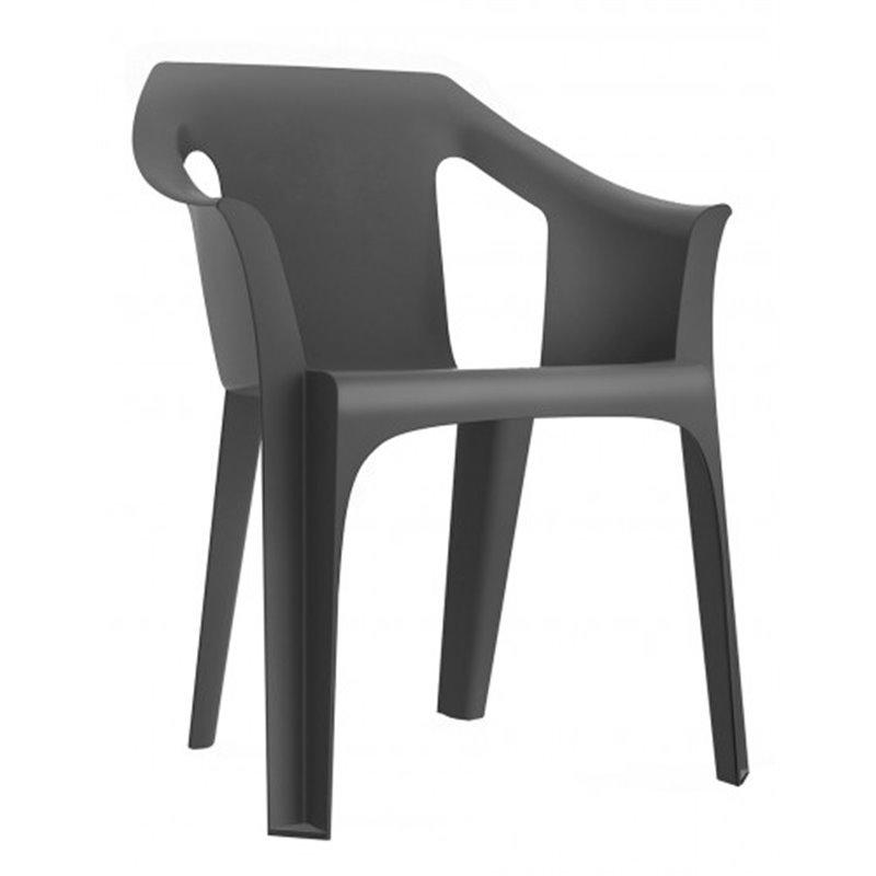 Lot de 31 chaises grises avec accoudoirs Cool Resol