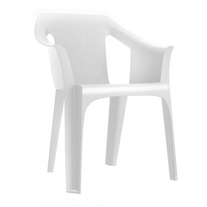 Lot de 31 chaises blanches avec accoudoirs Cool Resol