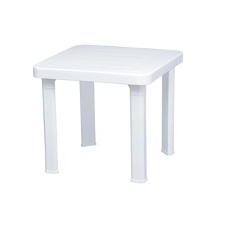 Lot de 6 tables d'appoint blanches Andorre Resol